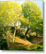 Landscape With Trees In Wales Metal Print