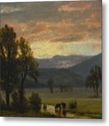 Landscape_with_cattle Metal Print