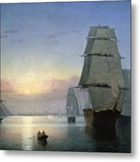 Lane: Boston Harbor Metal Print