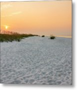 Langdon Beach Sunrise 5 - Pensacola Beach Florida Metal Print