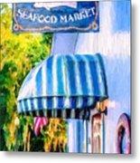 Lang's Marina Seafood Market Metal Print
