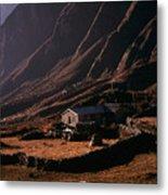 Langtang Village Metal Print