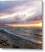 Laniakea Beach Sunset Metal Print