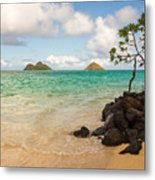 Lanikai Beach 1 - Oahu Hawaii Metal Print