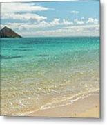 Lanikai Beach 4 Pano - Oahu Hawaii Metal Print