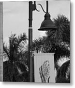 Lantana Lamp Post Metal Print
