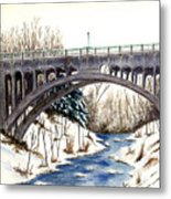 Lanterman Falls Bridge - Mill Creek Park Metal Print