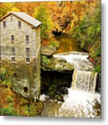 Lantermans Mill In Fall Metal Print