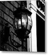 Lantern Black And White Metal Print