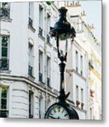 Lantern Clock Metal Print