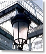 Lantern In Front Of The Crystal Palace, Madrid Metal Print
