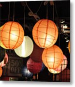 Lanterns 50 Percent Off Metal Print