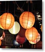 Lanterns 50 Percent Off Metal Print