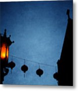 Lanterns- Art By Linda Woods Metal Print