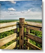Lapham Peak Wisconsin - View From Wooden Observation Tower Metal Print