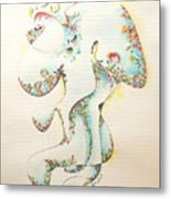 Lapis Lazuli Bejeweled Fertility Goddess Metal Print