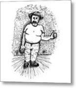 Large Man Metal Print by Karl Addison
