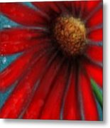 Large Red Flower Metal Print