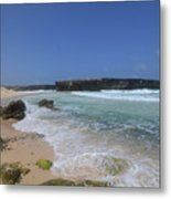 Large Rock Formation On The Beach At Boca Keto Metal Print