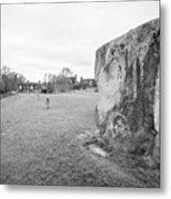 Large Sarsen Stone Part Of The Outer Ring Stone Circle Avebury Stone Circles Wiltshire England Uk Metal Print