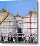 Large Spherical Sotrage Tanks Metal Print