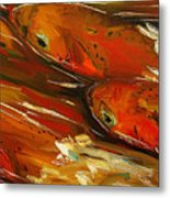 Large Trout Stream Fly Fish Metal Print