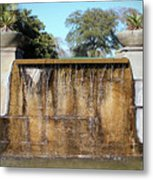 Large Water Fountain Metal Print