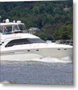 Larger Boat On The Hudson River Metal Print