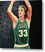 Larry Bird Metal Print