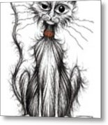 Larry The Cat Metal Print