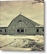 Larsen Road Barn Metal Print
