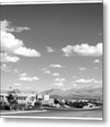 Las Cruces Mountains Black And White Metal Print
