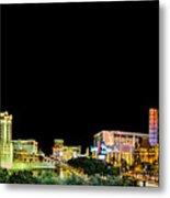 Las Vegas At Night Metal Print