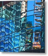 Las Vegas City Center Reflection Metal Print