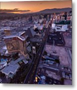 Las Vegas Strip Aloft Metal Print