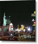 Las Vegas Strip At Night Metal Print