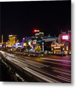 Las Vegas Strip At Night Metal Print