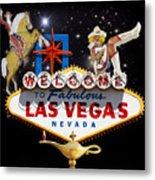 Las Vegas Symbolic Sign Metal Print