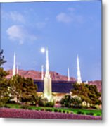 Las Vegas Temple Moon Metal Print