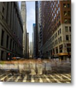 Lasalle Street Commuter Action Metal Print