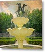 Lasdon Fountain Garden Metal Print