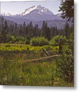 Lassen Peak Summer Metal Print