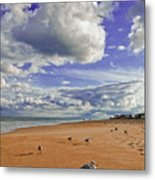 Last Day At The Beach Metal Print