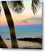 Last Evening Lights Metal Print