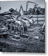 Last Journey - Salvage Yard Metal Print