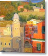 Last Light - Vernazza Metal Print