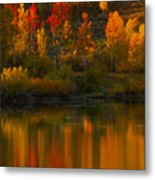 Last Light At Oxbow Bend  Metal Print