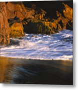 Last Light On Harris Beach Metal Print