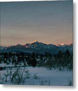 Last Light On Pagosa Peak Metal Print
