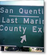Last Marin County Exit Metal Print